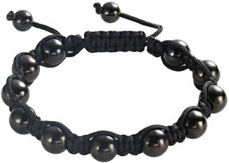 Shamballa Stainless Steel Black Ion Bracelet