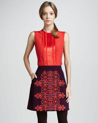 Nanette Lepore Karma Embroidered Skirt