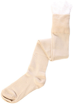 K. Bell The Enchanted Lace Over the Knee Socks in Cream