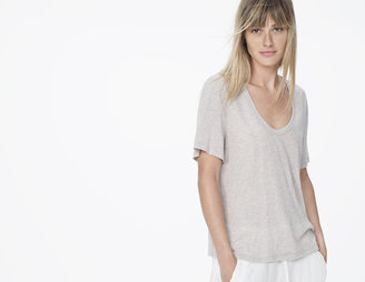 James Perse Cotton Cashmere V-Neck Tee