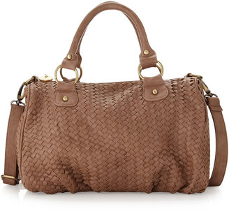 Deux Lux Bowery Basketweave Satchel, Bisque