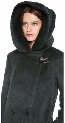 Alexander Wang Hooded Car Coat