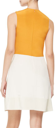 3.1 Phillip Lim Colorblocked Silk Dress, Bone