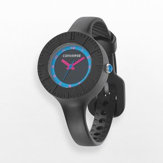 Converse the skinny black silicone watch - vr023001 - women