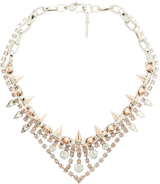 JOOMI LIM Crystal and Spike Necklace in Rhodium & Rose Gold
