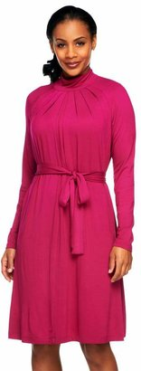 Linea By Louis Dell'olio by Louis Dell'Olio Jersey Knit Mock Neck Dress with Tie Belt
