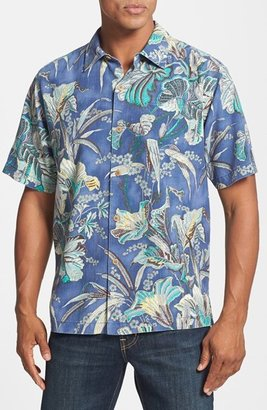 Tommy Bahama 'Botanica Bay' Silk Campshirt (Big & Tall)