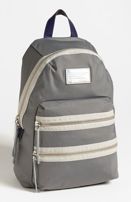 Marc by Marc Jacobs 'Domo Arigato Packrat' Backpack Cylinder Grey