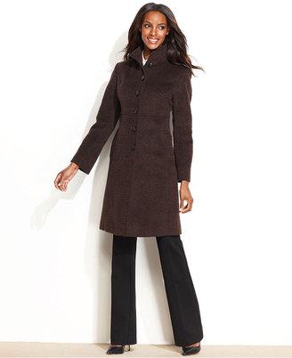 Jones New York Coat, Wool-Blend Jacquard Walker