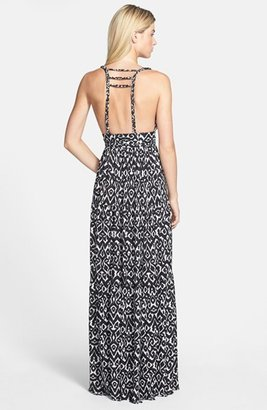 T-Bags Tbags Los Angeles Braid Back Jersey Maxi Dress