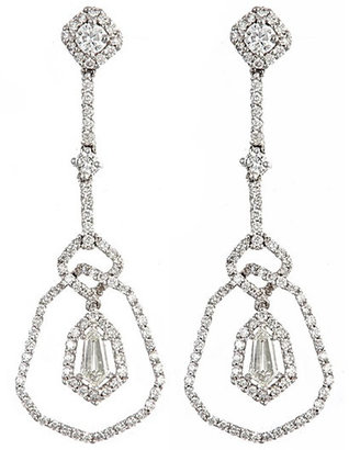 Brian Danielle Deco Drop Diamond Earrings