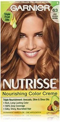 Garnier Nutrisse Nourishing Color Creme, 63 Light Golden Brown (Brown Sugar) (Packaging May Vary) $7.99 thestylecure.com
