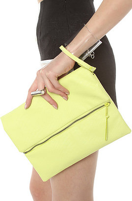Cheap Monday The Python Clutch in Sunny Lime