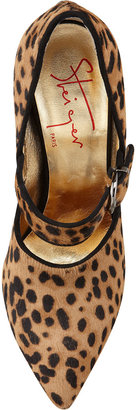 Walter Steiger Vigo Buckled Leopard-Print Pump