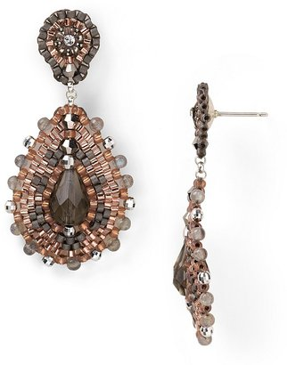 Miguel Ases Small Oval Chandelier Earrings