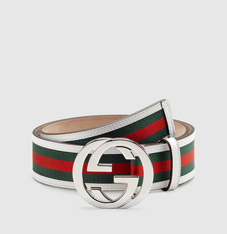 Gucci signature web belt with interlocking G buckle