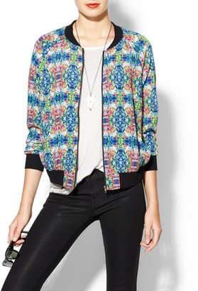 Juicy Couture Rhyme Los Angeles Mirror Print Bomber Jacket