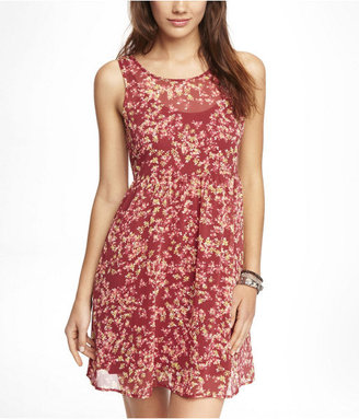 Babydoll Floral Chiffon Dress