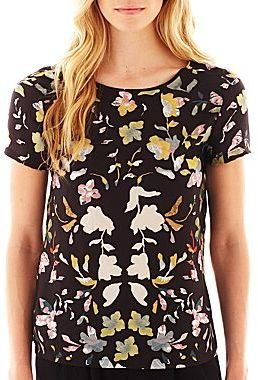 Mng by Mango Short-Sleeve Floral Blouse