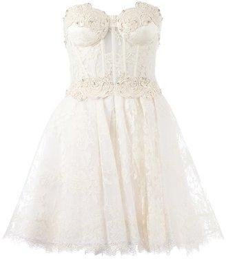 Murad Zuhair strapless floral lace dress