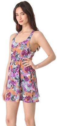Thayer Slit Back Cape Dress