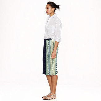 J.Crew Collection double-tweed skirt