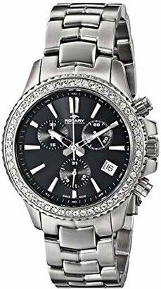 Rotary Women's alb90086/c/04 Analog Display Swiss Quartz Silver Watch
