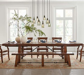 Pottery Barn Benchwright Extending Dining Table, Alfresco Brown
