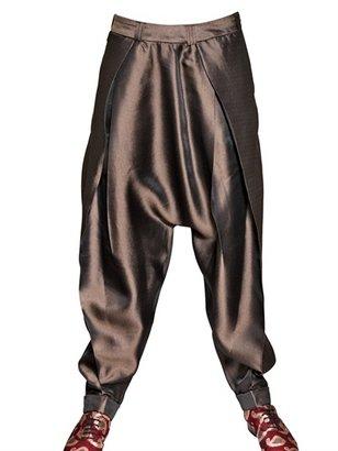 Haider Ackermann Low Rise Silk Shantung Trousers