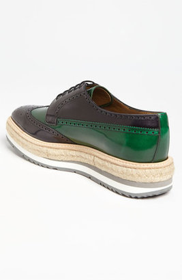Prada Double Sole Wing Tip Oxford