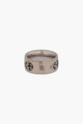 Alexander McQueen Baby Pink Enamel Skull Ring