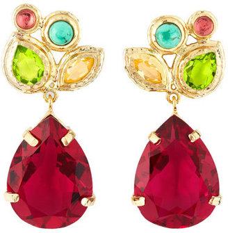 Isharya Multi-Stone Cluster Earrings