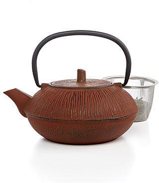 Primula CLOSEOUT! Cast Iron Brown 28 Oz. Teapot