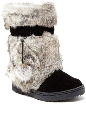BearPaw Tama II Genuine Rabbit Fur & Genuine Sheepskin Boot