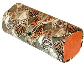 Tech Swiss Paylak TS1121OGE Jewelry Roll Travel Organizer with Leopard Print and Orange Gold Accents