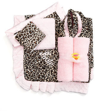 Swankie Blankie Cheetah Burp Cloths Set, Monogram