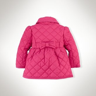Shawl-Collar Quilted Barn Coat