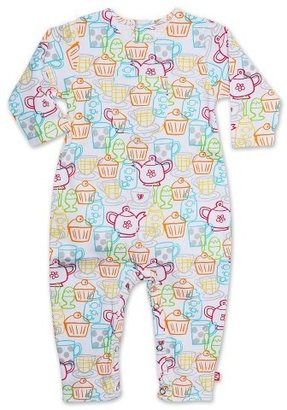 Zutano Baby-girls Infant Cups And Cakes Coverall