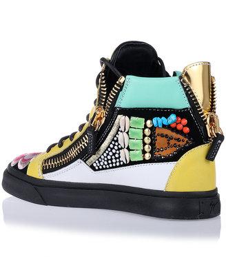 Giuseppe Zanotti Leather embellished sneaker
