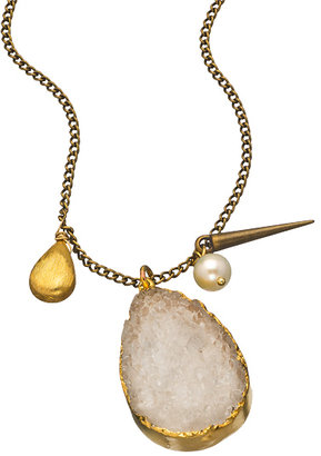 Janna Conner Designs Antique Gold and Druzy Demetra Necklace