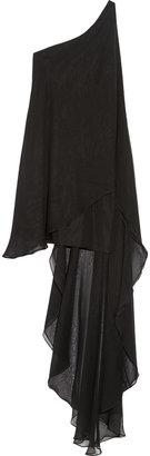 Haney Amy One-Shoulder Silk-Chiffon Mini Dress