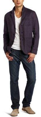 Façonnable Tailored Denim Men's Solid Linen Jacket
