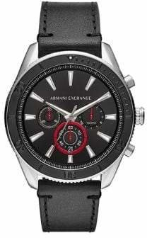 Armani Exchange Quartz Chronograph Leather Strap Enzo Watch