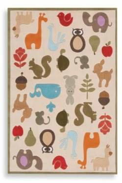 Momeni 'Lil Mo Whimsy 8-Foot x 10-Foot Area Rug in Ivory