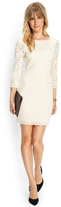 Forever 21 Contemporary Zippered Lace Sheath Dress