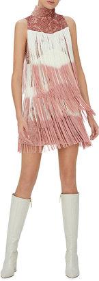 Alexis Mayla Ombre Fringe Short Dress