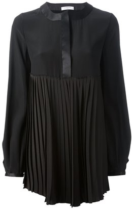Givenchy pleated silk blouse