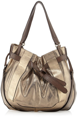 Kooba Parker Metallic Hobo Bag, Gold