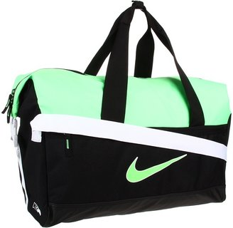 Nike Soccer Libero Compact Duffel (Black/White/Neo Lime) - Bags and Luggage