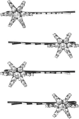 Jennifer Behr Set of four Swarovski crystal hair slides